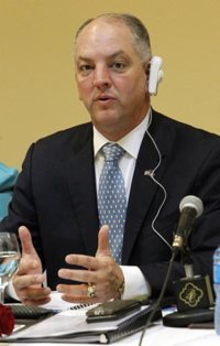 Louisiana Gov. John Bel Edwards, pictured in this 2016 photo, signed a bill May 30 to ban abortions after 15 weeks.