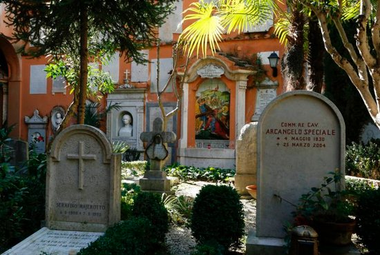The Teutonic cemetery at the Vatican is seen in this 2015 file photo
