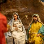 Creches tell the Nativity story using materials, symbols of local culture