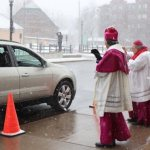 Archbishop Hebda, Bishop Cozzens extend Easter blessing; cars line up for blocks