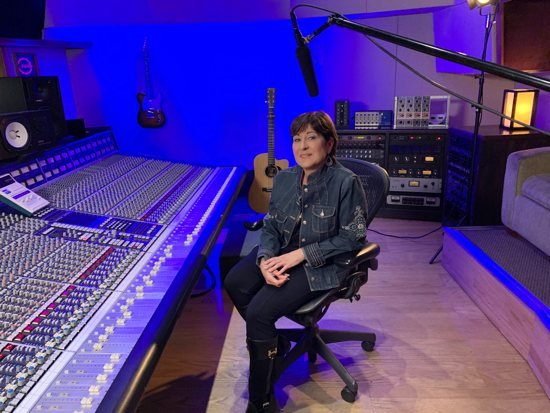 Singer-songwriter Donna Lee is pictured in an undated photo at Studio West and Recording Arts Center in Rancho Bernardo, Calif. The San Diego-based musician, who last year marked 30 years in music ministry, recently wrote and recorded