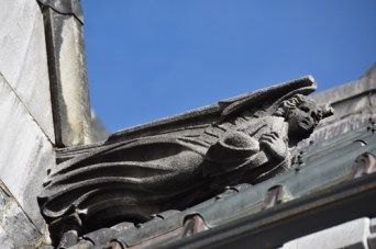 Angels, not gargoyles, at Kylemore Abbey. [Sun photo | Katherine Long]