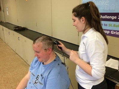 IMG 0060 1 - Grimes principal goes bald for a good cause