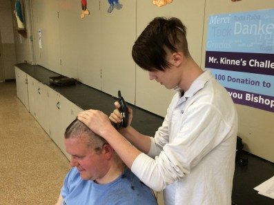 IMG 0066 1 - Grimes principal goes bald for a good cause