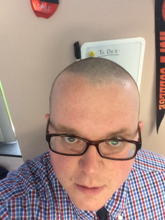 IMG 0071 1 - Grimes principal goes bald for a good cause