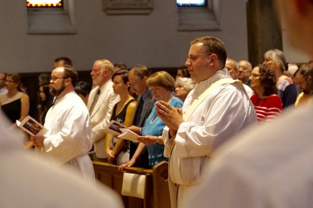 The ordination Mass of Father Kenneth Kirkman (left) and Father Peter Tassini (right) at the Cathedral of the Immaculate Conception June 3. (Sun photo | Chuck Wainwright)