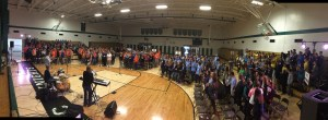 Some 380 teens from seven area parishes participated in Seek and Serve, a special retreat experience held at Bishop Ludden Jr./Sr. High School in Syracuse Nov. 13. (Photo courtesy Julie Hagan)
