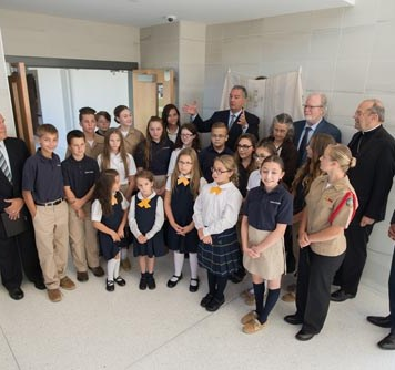 Cath 3 1 - Bishop blesses new Willenburg Center at Notre Dame Schools
