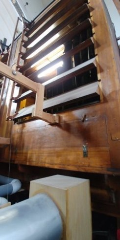 Moller organ's swell box