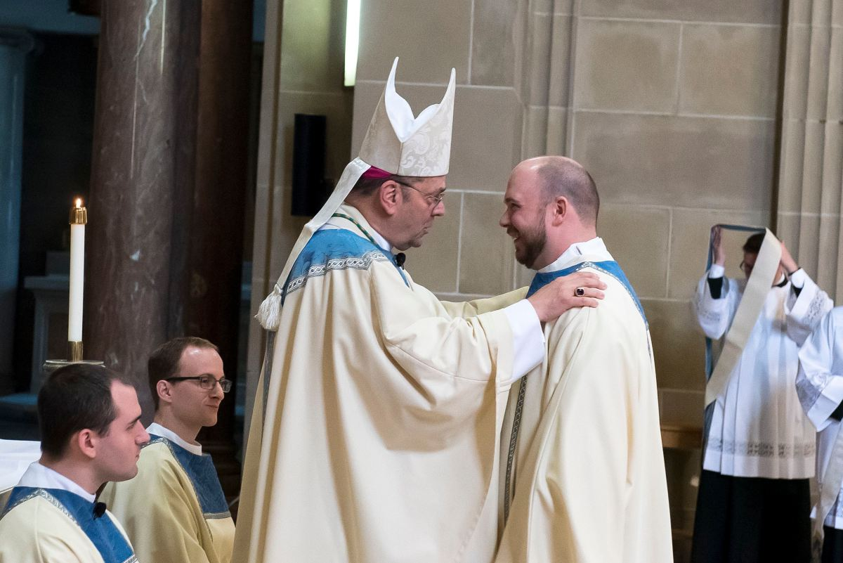 Diocesan seminarian Nate Brooks ordained to transitional diaconate