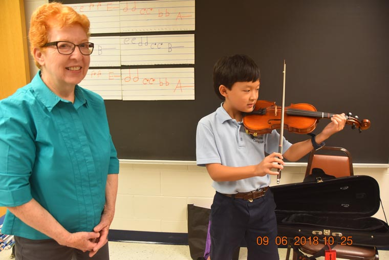 Honor for IC violinist