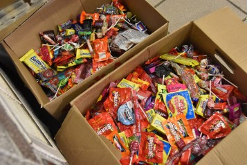 Plenty of leftover candy was left for the deputies who work in the justice center. (Sun photo | Tom Maguire)