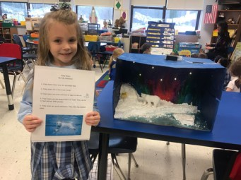 Elle - IC School kindergartners spotlight Arctic, Antarctic animals