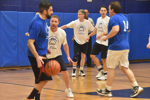 dads hoop game 1 - Dads Basketball Game at IC School raises money for Road to Emmaus