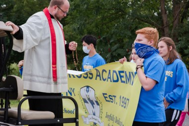 HolyCross 132 - Schools in Oneida hold procession to celebrate feast day