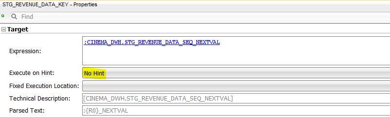 ODI Sequences No Execute on Hint