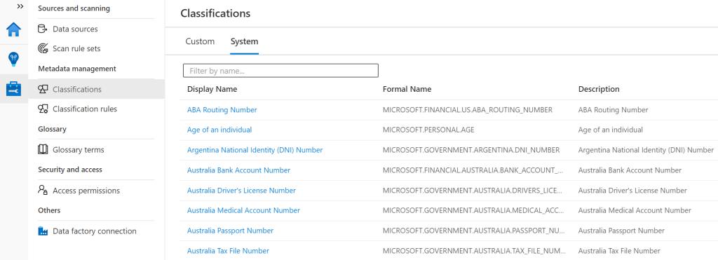 Benutzerdefinierte Klassifizierungen in Azure Purview