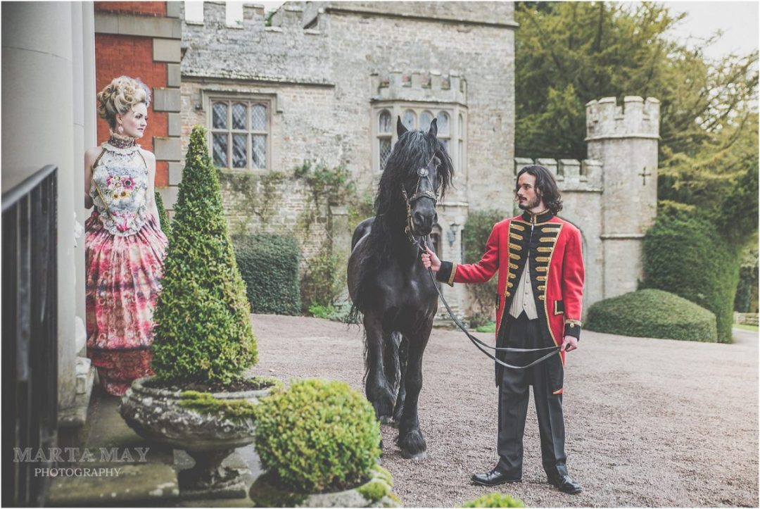 Asgard from The Cavalry of Heroes, at Homme House, Friesian Horse, military jacket