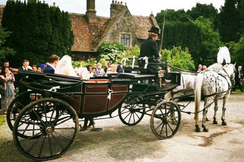 Wedding Horse and Carriage with pair of Appaloosa Horses and landau carriage driven by Marc Lovatt, Head Coachman and Carriagemaster of The Cavalry of Heroes Ltd through Gloucestershire, based in Wales and covering the Three Counties of Worcestershire, Herefordshire and Gloucestershire as well as UK and Ireland