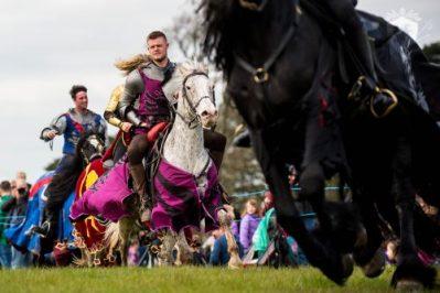 Medieval Knights on Horseback - Performance at Margam Park