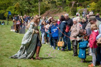Berkeley Castle Medieval Jousting Show 2017 - Knights on Horseback Medieval Jousting Show from The Cavalry of Heroes, Princess Katherine