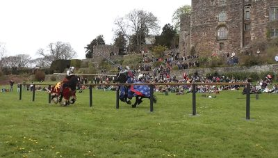 Berkeley Castle Medieval Jousting Show at Berkeley Castle with The Cavalry of Heroes stunt and action horses