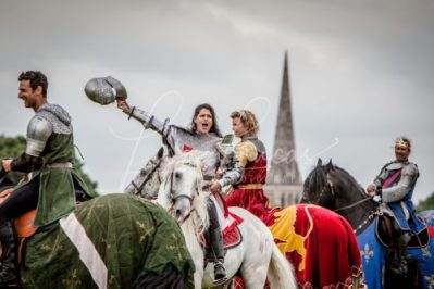 Lambeth Country Show - Brockwell Park - Medieval Jousting Tournament with The Cavalry of Heroes, Knights on Horseback Main Arena Stunt Horse Show 2017 - Lady Lancelot