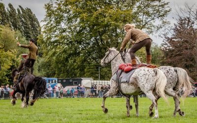 Herefordshire Country Fair - WW1 Horses and Heroes - Marc Lovatt and The Cavalry of Heroes Roman Riding