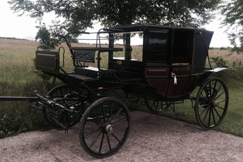 Wedding Horse Drawn Carriage - Georgian Landau Carriage Replica from Marc Lovatt and The Cavalry of Heroes Hire Horses and Carriages
