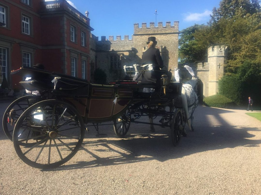 Homme House Wedding Horse Drawn Carriage Hire Landau Carriage Herefordshire Powys Wales