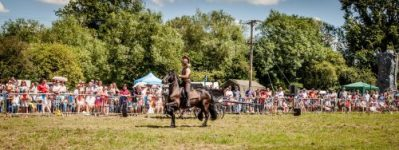 004 The Cavalry of Heroes performing Cavalry Through the Ages Trick Riding Horse Show at Kinver Country Fair 2017 Romans, Knights and Highwayman on Horses