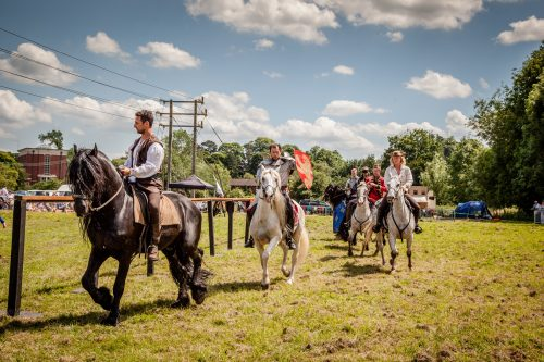 014 The Cavalry of Heroes performing Cavalry Through the Ages Trick Riding Horse Show at Kinver Country Fair 2017 Romans, Knights and Highwayman on Horses