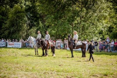 018 The Cavalry of Heroes performing WW1 Trick Riding Horse Show at Kinver Country Fair 2017 Romans, Knights and Highwayman on Horses