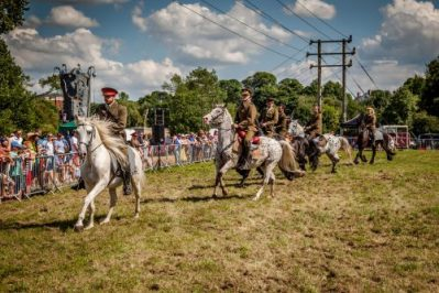 024 The Cavalry of Heroes performing WW1 Trick Riding Horse Show at Kinver Country Fair 2017 Romans, Knights and Highwayman on Horses