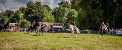 025 The Cavalry of Heroes performing WW1 Trick Riding Horse Show at Kinver Country Fair 2017 Romans, Knights and Highwayman on Horses