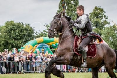 The Cavalry of Heroes performing Medieval Jousting Show at Lambeth Country Show 2017 Knights on Horseback 3