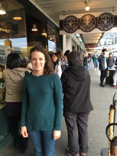 Outside the original Starbucks