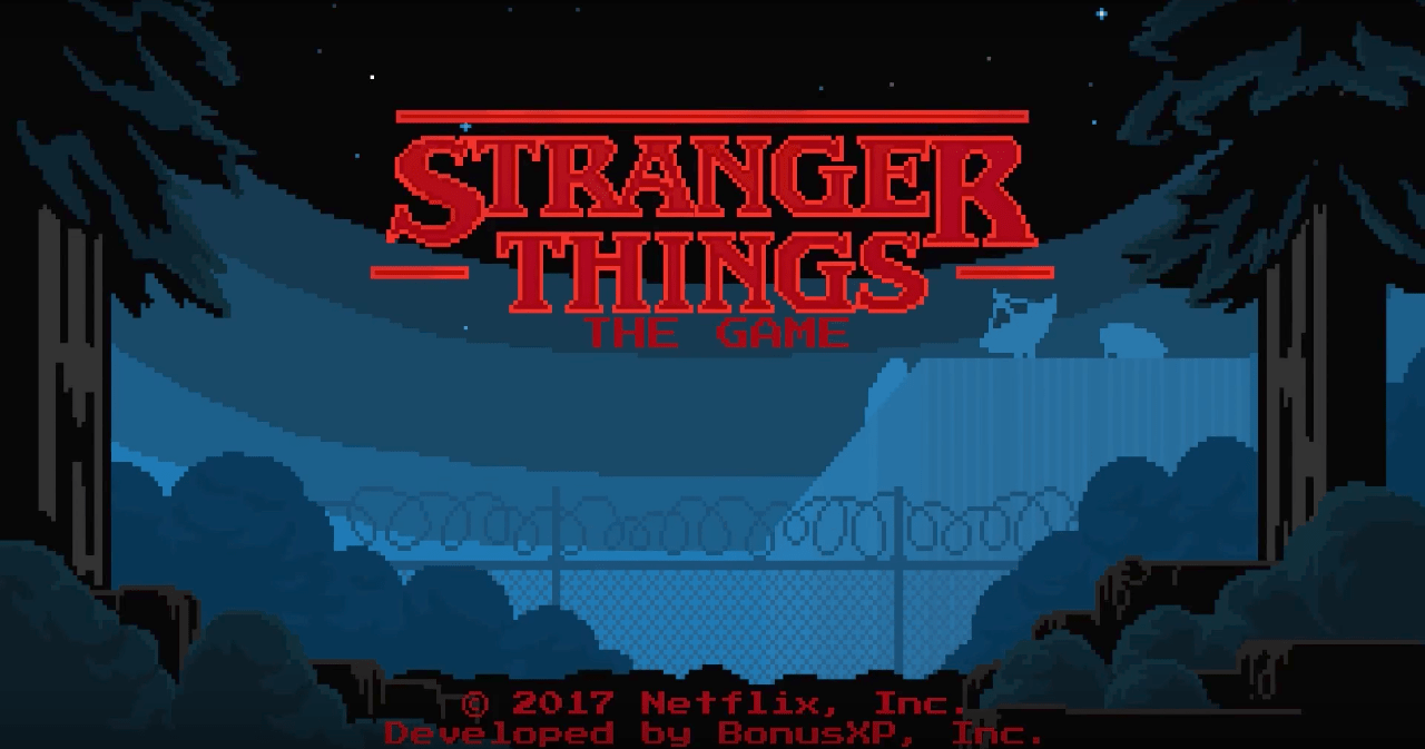 There's an official Stranger Things video game and it looks retro cool