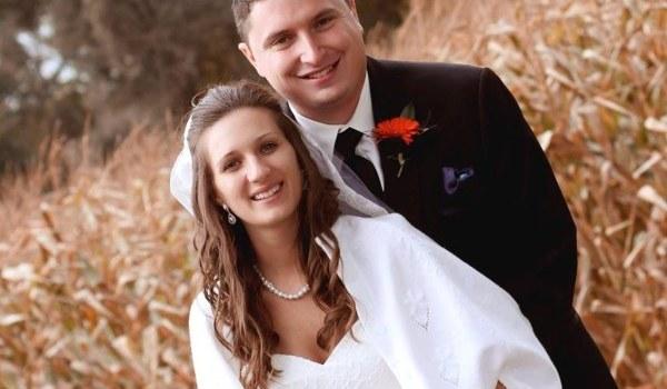 Dr. Sandra Wisniewski and her husband wedding day