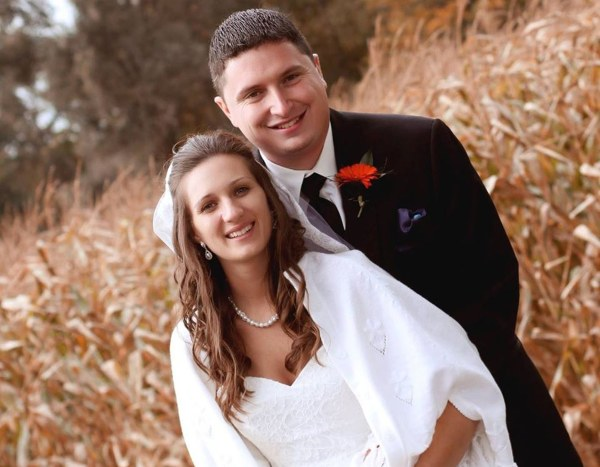 Dr. Sandra Wisniewski and her husband wedding day