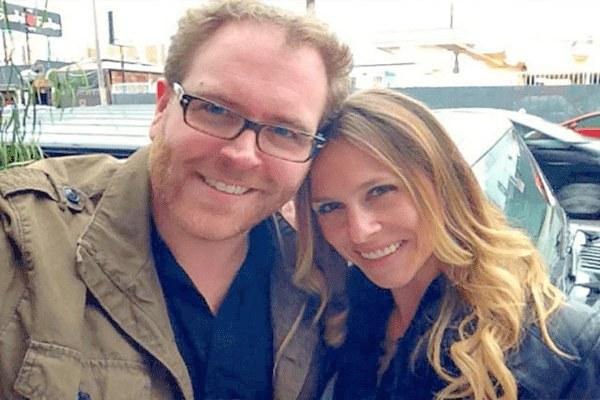 Hallie Gnatovich and her husband Josh Gates
