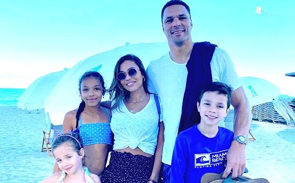 October Gonzalez with her husband Tony Gonzalez and children