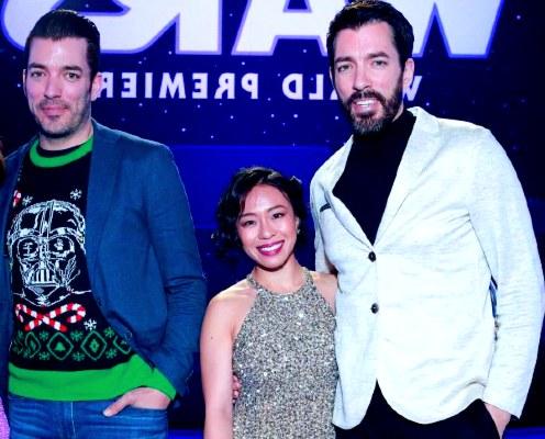 Jonathan Scott(Left), Linda Phan and her husband Drew Scott(Right)