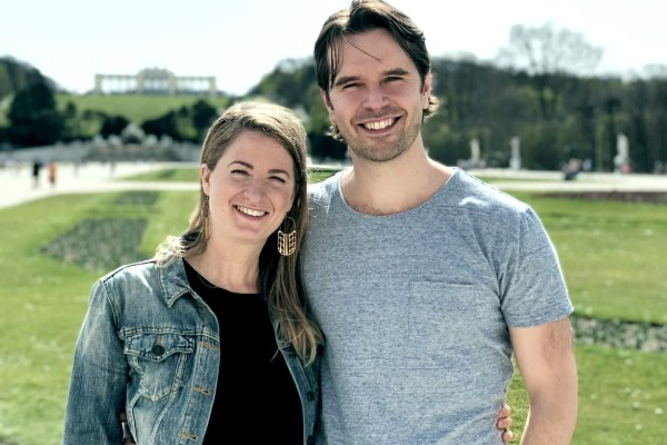 Graham Wardle with his wife Alison Wardle
