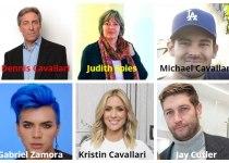 Dennis Cavallari, Judith Spies, Michael Cavallari, Gabriel Zamora Cavallari, Kristin Cavallari, Jay Cutler.