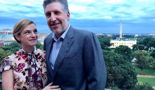 Daniel Jinich with his wife chef, Pati Jinich.