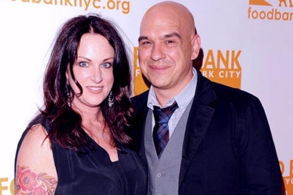 Liz Shanahan with her husband Michael Symon.