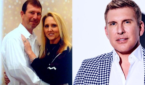 Todd Chrisley's(R) brother Randy Chrisley(L) with his girlfriend Pamela.