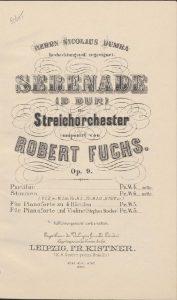 Fuchs R. - Serenade No.1 in D-major, Op.9