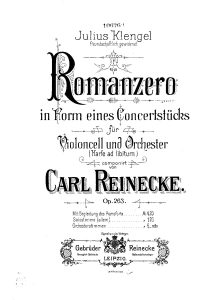 Reinecke C. - Romance for Cello and Piano Op.263